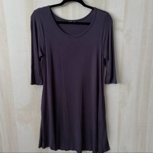 Annabelle Dark Gray T-shirt Dress with Pockets S